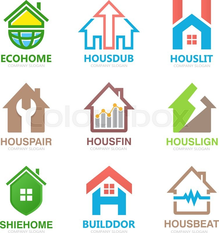 753x800 Set Of House Logo Design Template. House Logo. Home Logo. Real