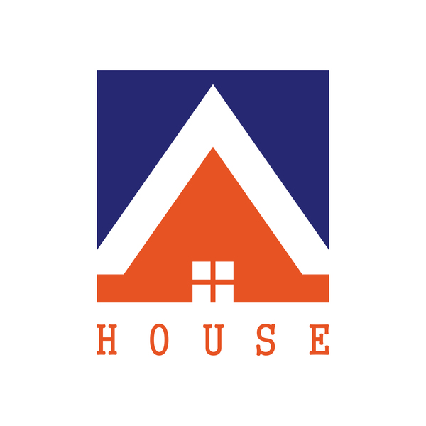 600x600 Square House Logo Vector Free Download