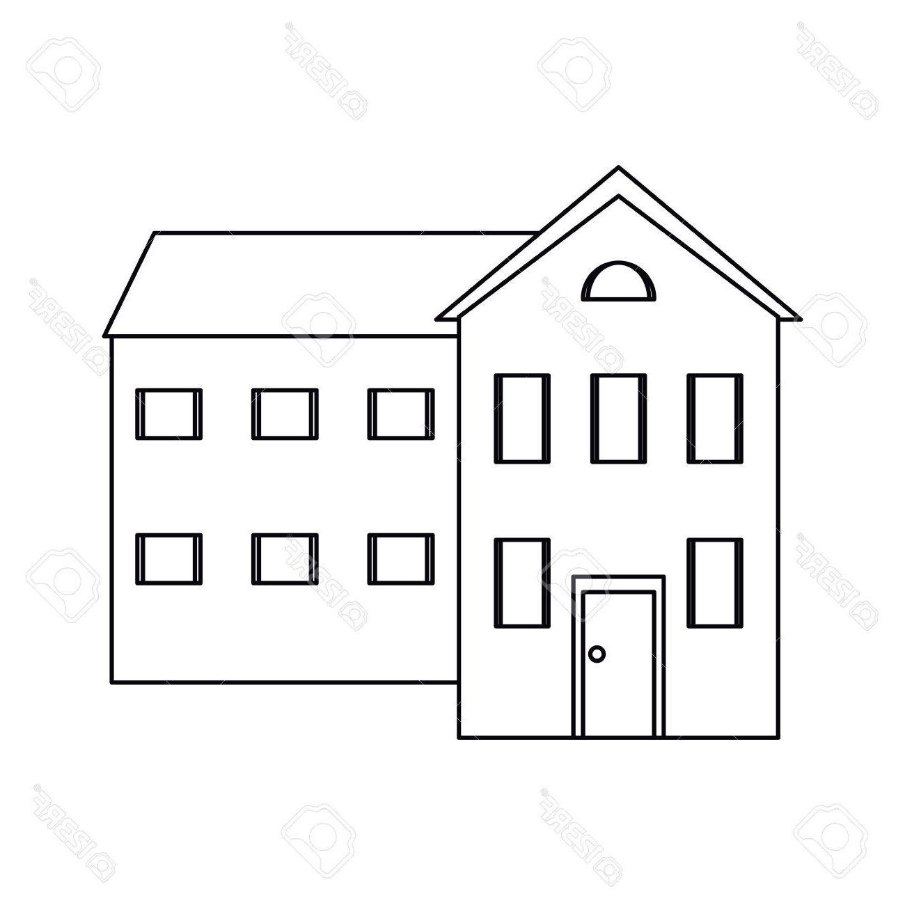House Outline Vector
