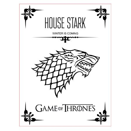 450x450 Game Of Thrones House Stark 3d Illusion Lamp Vector File For Cnc