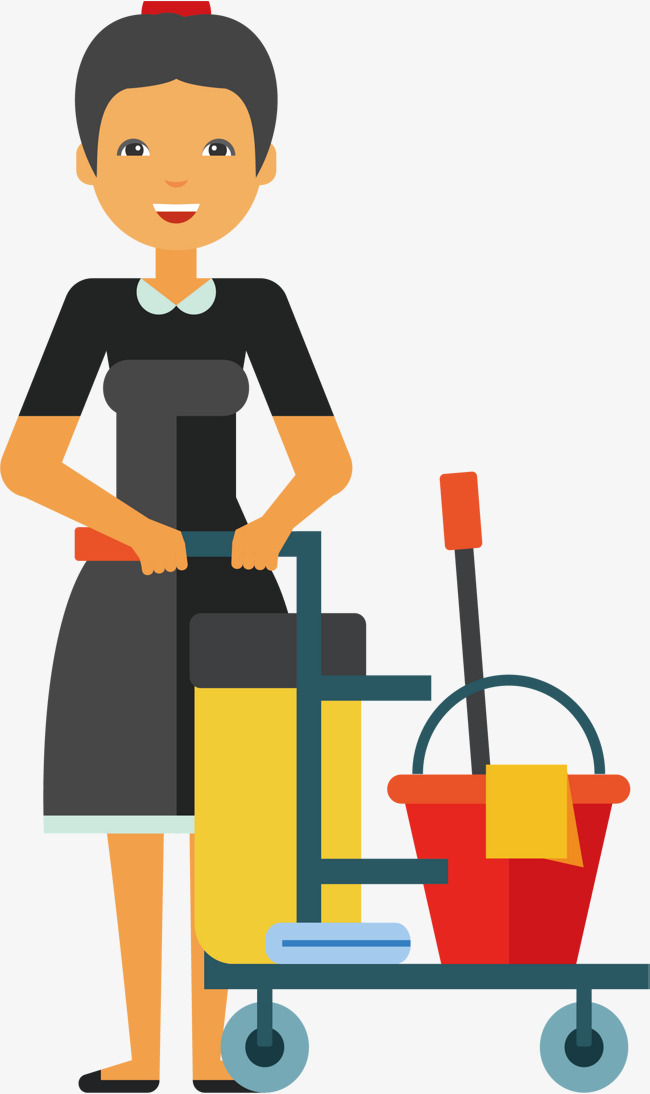 650x1094 Housekeeping Staff, Vector Png, Domestic Company, Cleaning Company