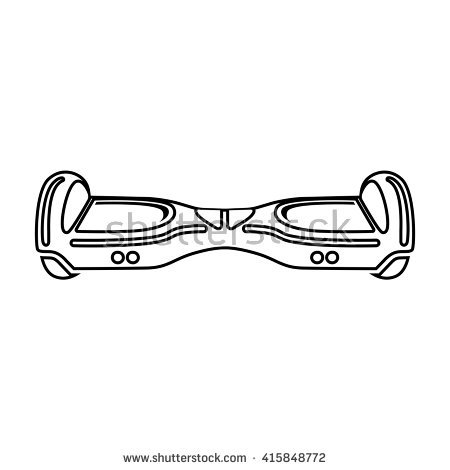 450x470 Hoverboard Coloring Pages 2379251