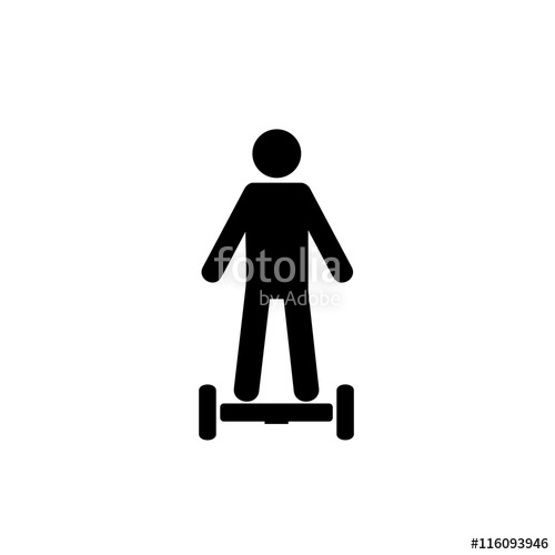 500x500 Man Standing On Hoverboard Icon Stock Image And Royalty Free