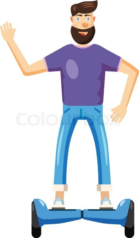 469x800 Man Riding Hoverboard Icon. Cartoon Illustration Of Man Riding