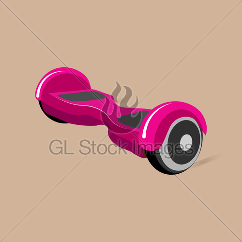 500x500 Vector Illustration.hoverboard, Gyroscooter, Gyroscope. Flat Gl