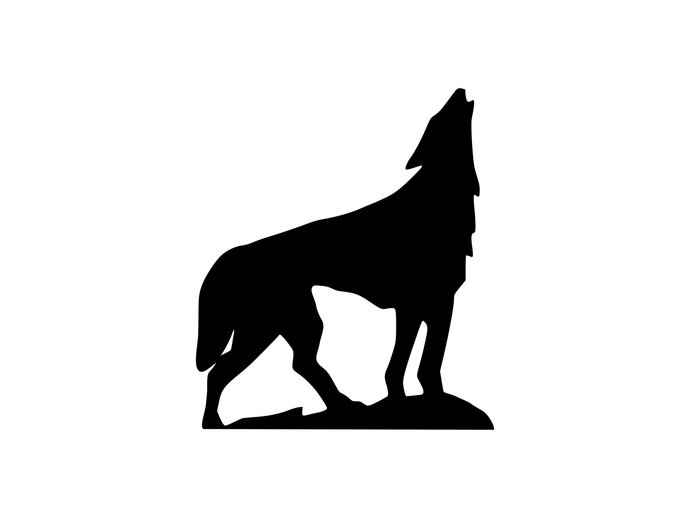 690x518 Wolf Svg Wolf Silhouette Svg Files Wolf Cut By Clearcutsupply