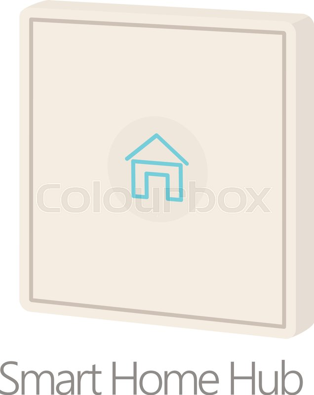 636x800 Smart Home Hub Icon. Cartoon Illustration Of Smart Home Hub Vector