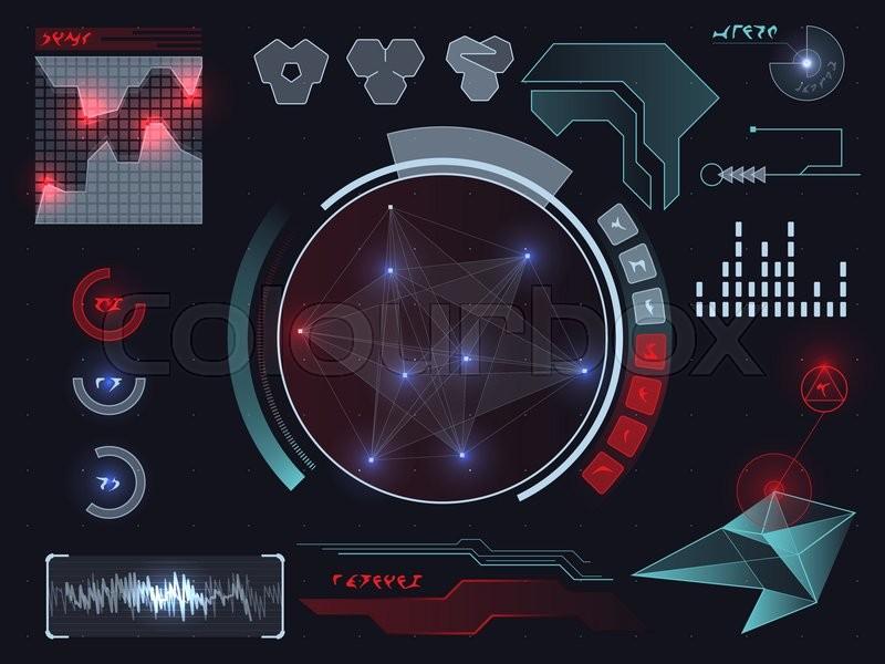 800x600 Futuristic Sci Fi Virtual Touch User Interface Hud Elements