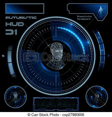 450x470 Futuristic User Interface Hud. Futuristic Sci Fi Virtual Touch