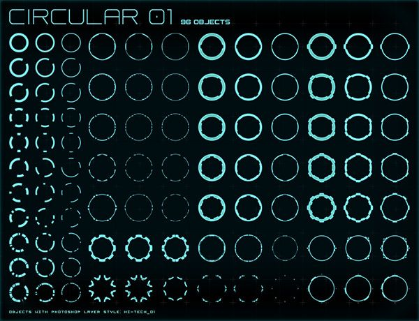 600x460 Hi Tech Interface Builder Pack For Futuristic Interfaces Amp Hud