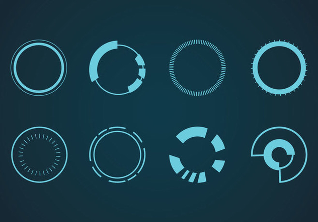 632x443 Hud Elements Vector Free Vector Download 433877 Cannypic