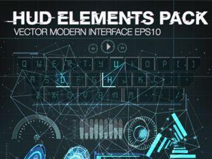310x233 Vector Modern Infographics Hud Elements Vector 01 Free Vectors