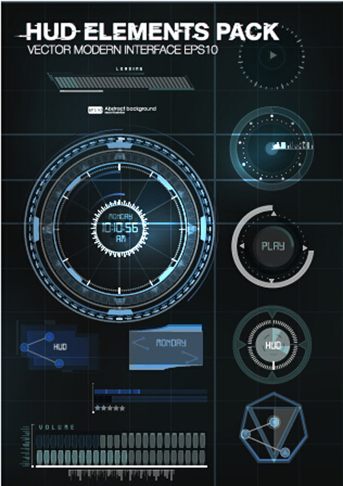 500x709 Vector Modern Infographics Hud Elements Vector 01 Free Download