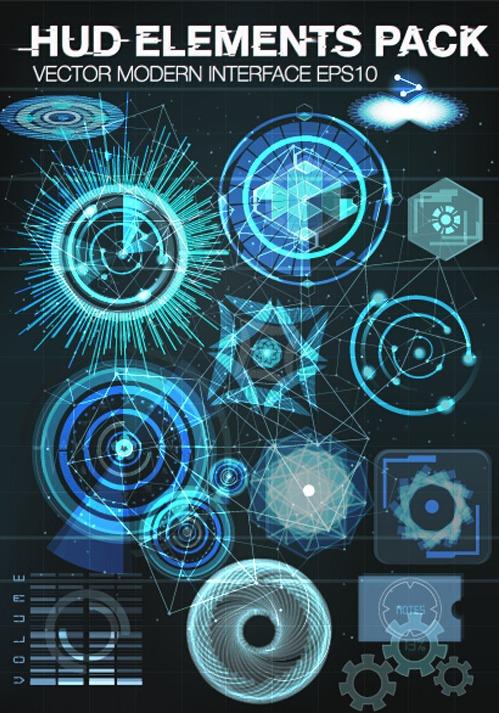499x713 Vector Modern Infographics Hud Elements Vector 06 Free Vectors