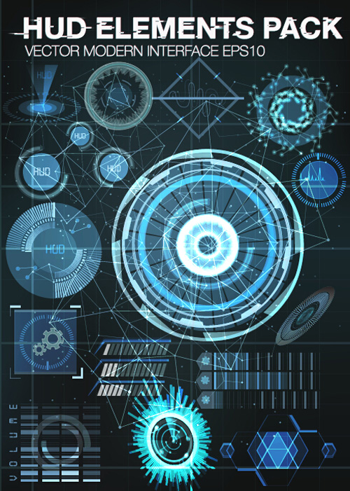 500x701 Vector Modern Infographics Hud Elements Vector 07 Free Download