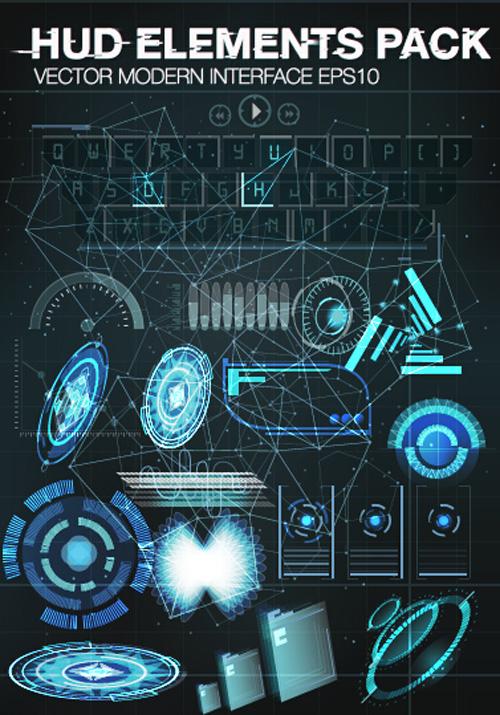 500x715 Vector Modern Infographics Hud Elements Vector 08 Free Download