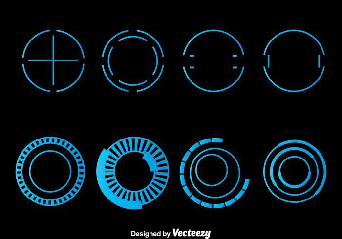 700x490 Blue Hud Element Vector