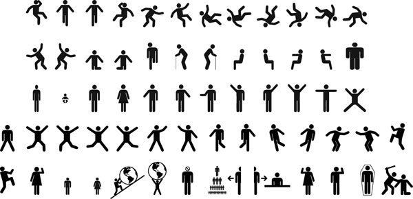 600x290 Human Figure Icons Free Vector Download (24,955 Free Vector) For