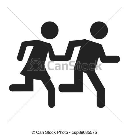 450x470 Human Figure Person Running Vector Illustration Design.