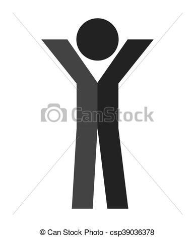 387x470 Human Figure Silhouatte Icon Vector Illustration Graphic.