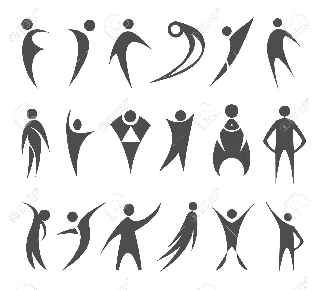 1300x1182 Collection Of Abstract People Clipart Silhouette High
