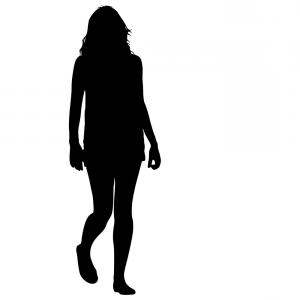 300x300 Silhouette Of People Walking On White Background Vector Shopatcloth