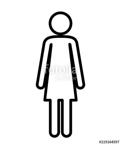 419x500 Female Figure Human Silhouette Vector Illustration Design Stock