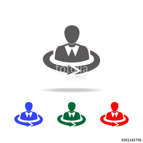 500x500 Human Resources Line Icon. Elements Of Human Resource In Multi