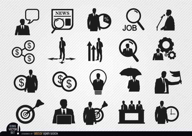 625x442 Human Resources Icons Set Vector Free Download