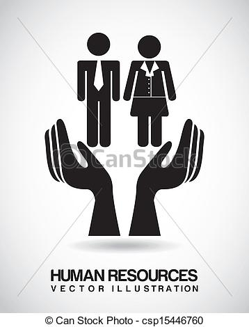 358x470 Human Resources Over Beige Background Vector Illustration.
