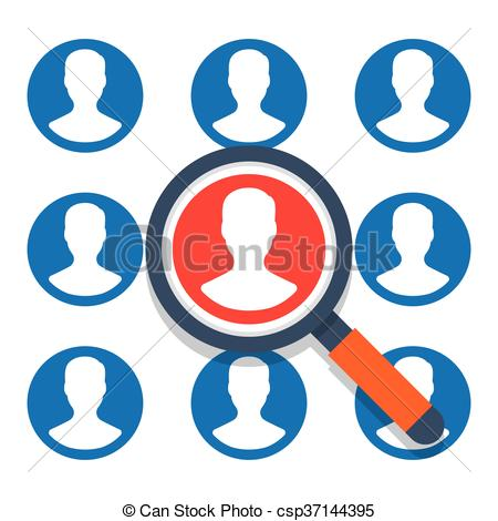 450x470 Human Resources Vector Illustration. Human Resources On A White