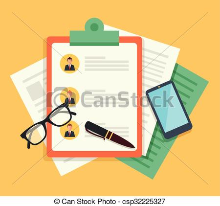 450x421 Human Resources. Vector Flat Illustration.