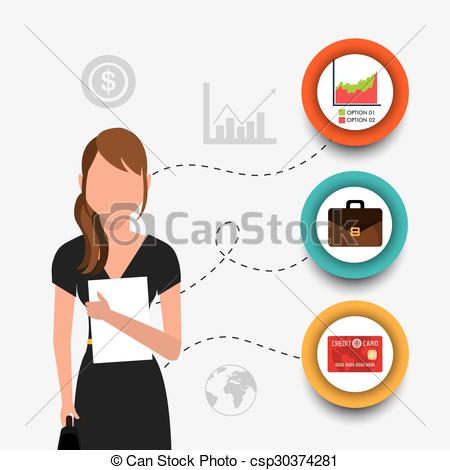 450x470 Business, Money And Human Resources. Business And Human... Vector