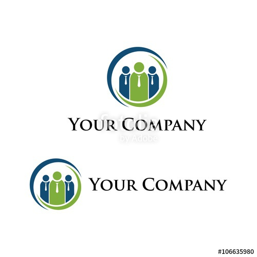 500x500 Human Resources Vector, People Search, Hr Logo, Icon Stock Image