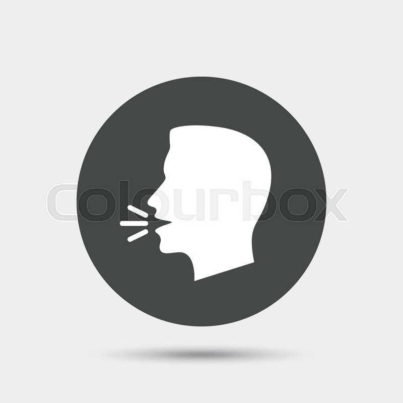 800x800 Talk Or Speak Icon. Loud Noise Symbol. Human Talking Sign. Gray