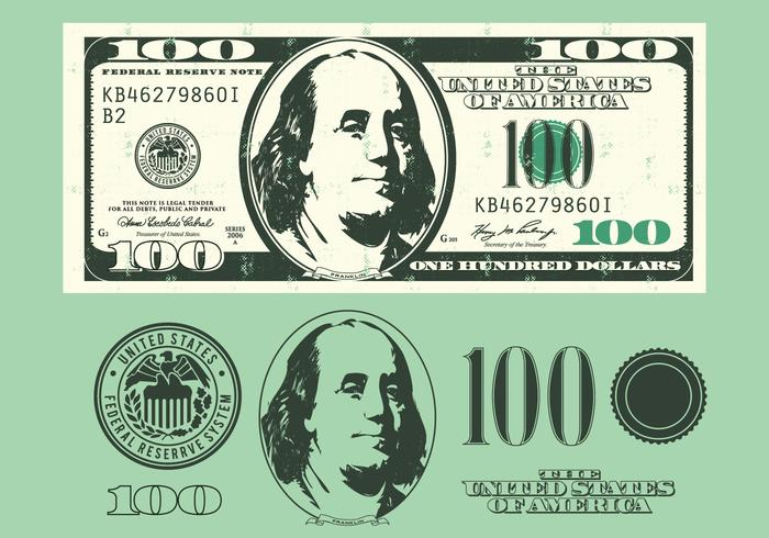 Hundred Dollar Bill Vector