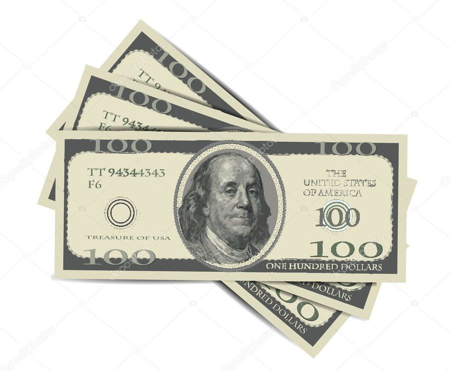 900x742 Download Dollars Vector Clipart United States One Hundred Dollar