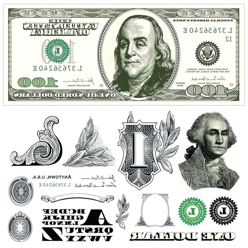1024x1024 Hundred Dollar Bill Template