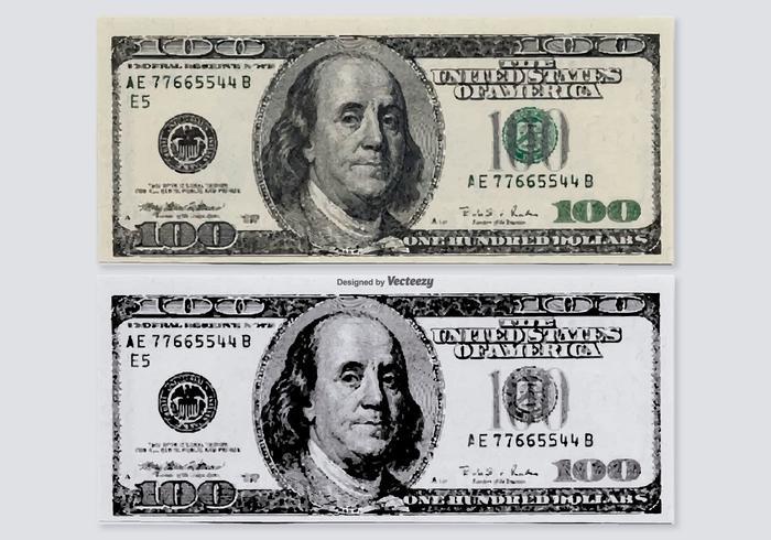 700x490 Hundred Dollar Vector Bills