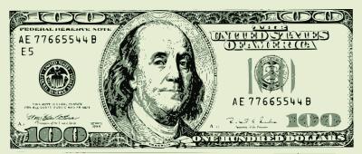 400x170 100 Dollar Bill Vector