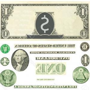 300x300 Stock Illustration Dollars Bill Cartoon Money Artistic One Hundred