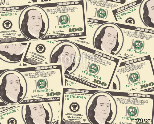 500x401 Close Up View Of American Hundred Dollar Bills. Stock Image And