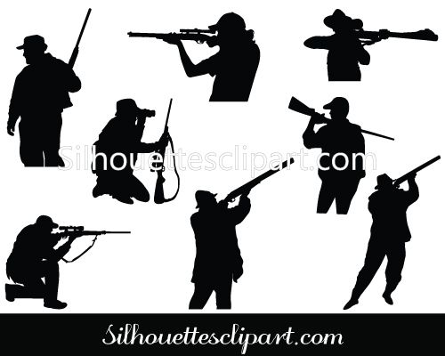 500x400 10 Best Business Silhouette Images Hunting Vector Art