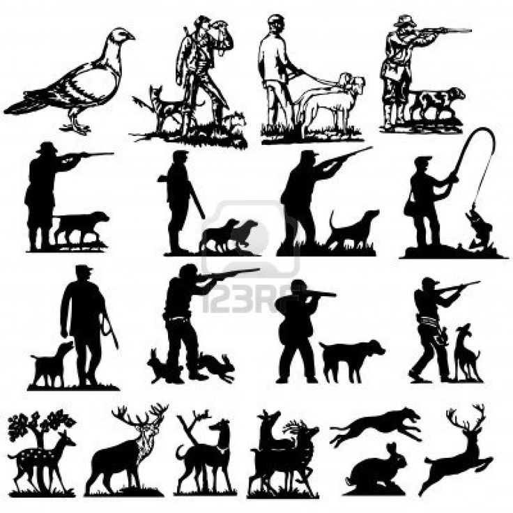 736x736 Hunting Vector Art 76 Best Silhouettes Deer Hunting Silhouettes