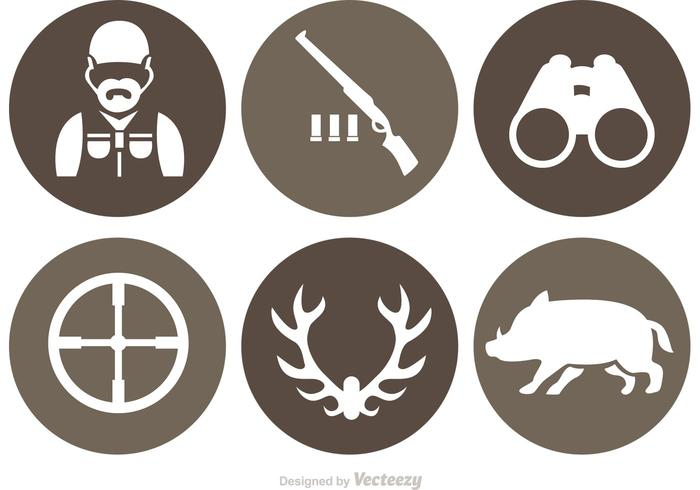 700x490 Hunting Vector Icons
