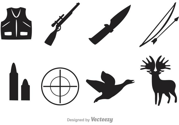 700x490 Vector Hunter Black Icons