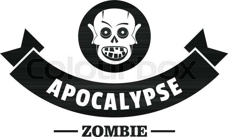 800x481 Zombie Hunting Logo. Simple Illustration Of Zombie Hunting Vector