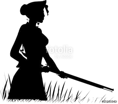 500x442 Woman Hunting Vector Silhouettes Stock Image And Royalty Free