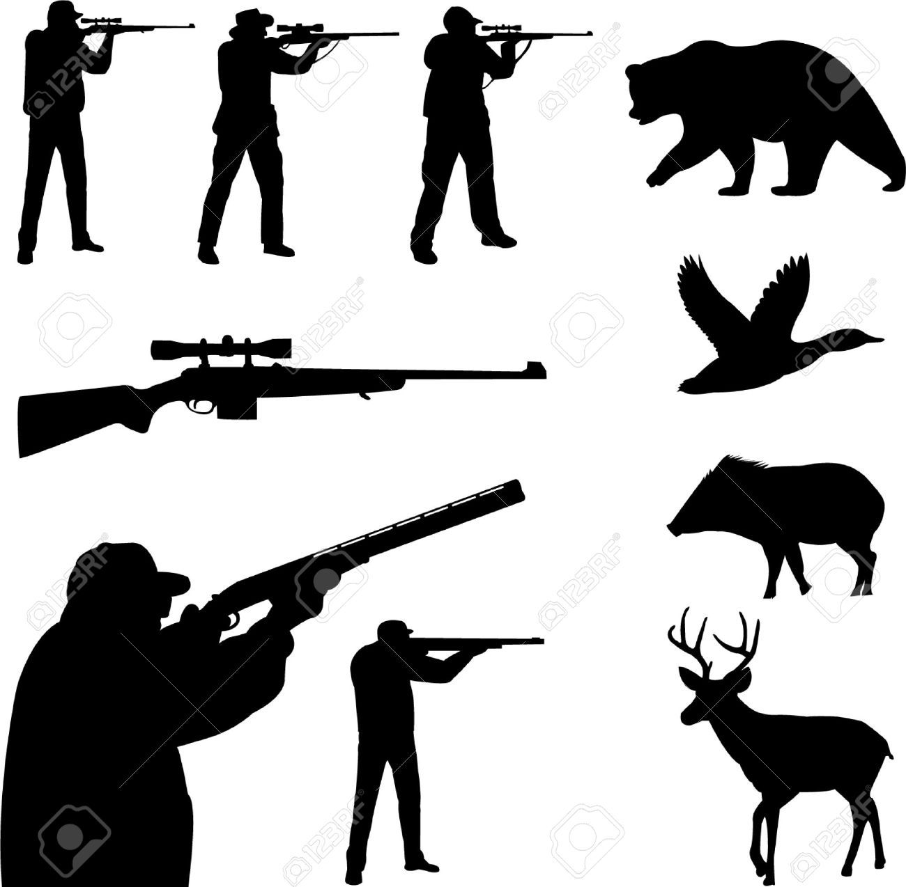 1300x1274 Deer Hunting Cliparts, Stock Vector And Royalty Free Deer Hunting