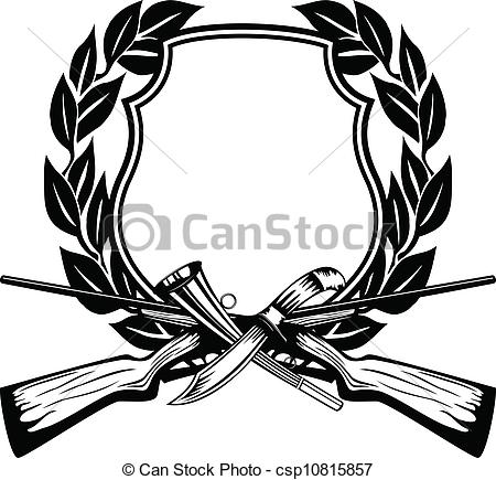 450x435 Hunting Clipart Frame Hunting Vector Image Board Crossed Guns